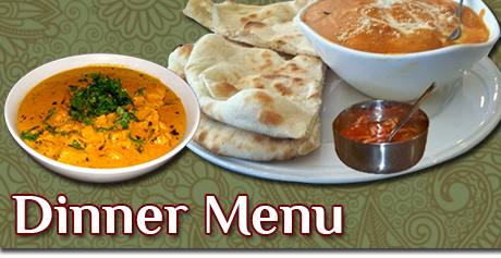 Indian Diner Cuisine Menu